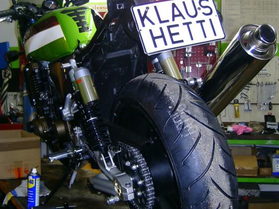 Kawa ZRX1200R ... Traum erfüllt! Natürlich den vom Mopped und nicht vom Nummernschild! Okay, Bertha?