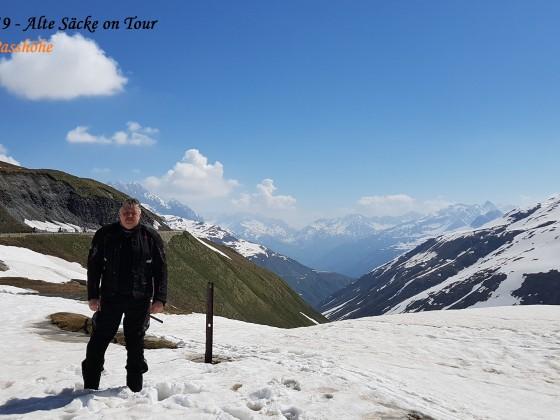 Blick von der Furka-Passhöhe