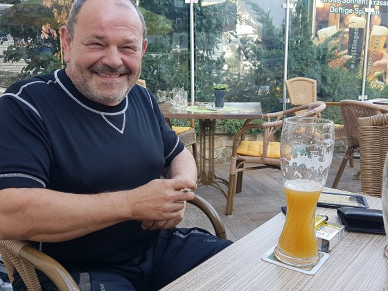 After-Tour-Bierchen in Willingen