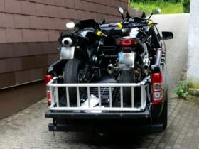 Unser Motorrad Transporter ist Fertig